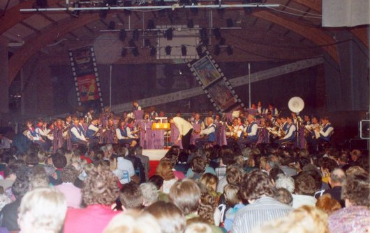 Photo du concert spectacle de l'harmonie en 1990