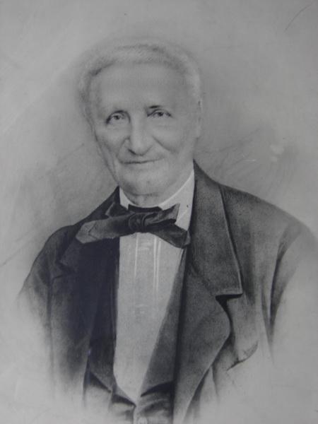 Photo du fondateur de l'harmonie municipale en noir et blanc
