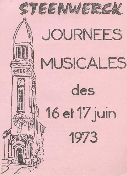 Photo de l'affiche des journées musicales de 1973